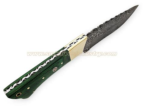 fix blade knives coulman damascus fix blade knife sm19 smknives