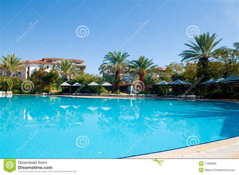 Pool Chaise Lounge Chair Beautiful Swimming Pool Royalty Free Stock Photos Image