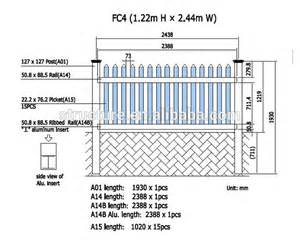 pvc portable picket fence