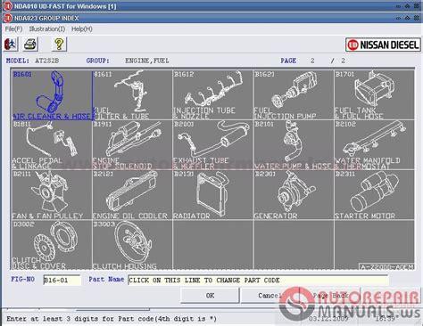 nissan japan parts catalog nissan diesel ud fast nde japan 05 2015 auto repair