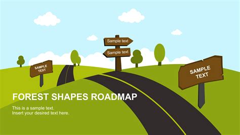 powerpoint templates free download roads free forest shapes roadmap powerpoint template slidemodel