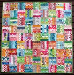 Scrap Quilt Patterns Easy Scrap Quilt Idea Great For A Baby Blanket Quilts