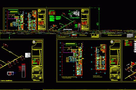 voice  data installation dwg detail  autocad