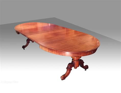 Antique Pedestal Extending Oval Dining Table Antiques Atlas Antique Pedestal Dining Table
