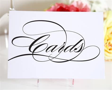 sign up card template 9 best images of free printable wedding card table sign