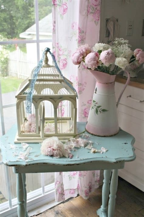cheap vintage shabby chic style kitchen design and