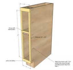 Slim Bathroom Storage Cabinet by Ana White Build A 6 Quot Filler Tray Base Cabinet Momplex