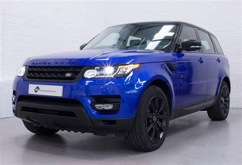 wrapped range rover sport range rover sport 3m gloss cosmic blue personal vehicle