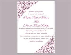 Diy Wedding Invites Templates by Diy Wedding Invitation Template Editable Word File