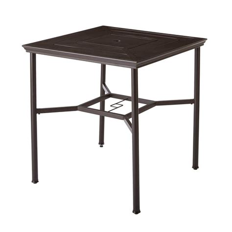 Rectangular Patio Dining Table Hton Bay Tobago Rectangular Extendable Patio Dining Table 15111584text The Home Depot