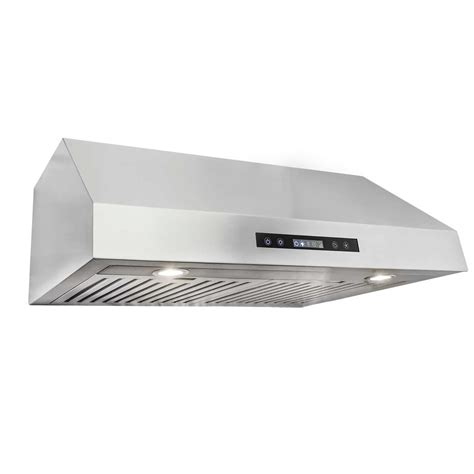 30 stainless steel range hood under cabinet cosmo 30 quot 750 cfm ducted under cabinet range hood in