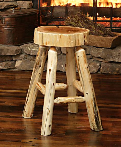 log bar stools lumberjack bar stool rustic furniture mall by timber creek