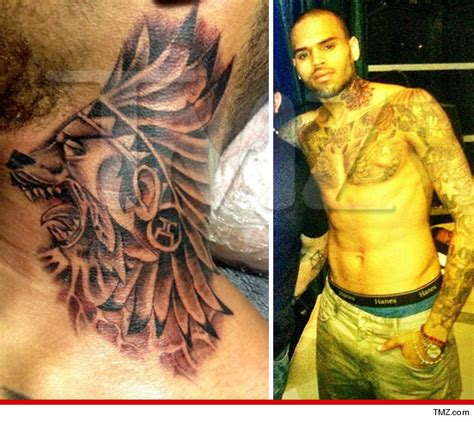 chris brown tattoo chris brown s new neck dope or nope