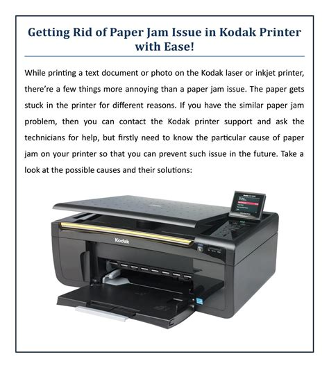 resetting kodak printer getting rid of paper jam issue in kodak printer with ease
