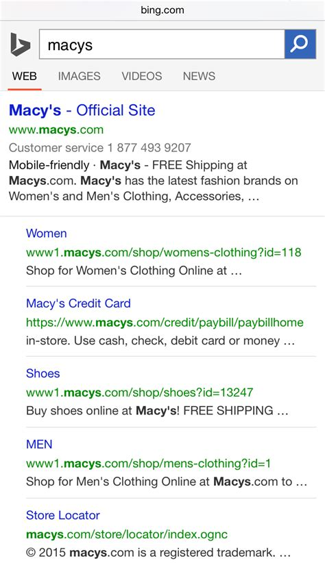Search Results For Number search adds customer service phone numbers to search results