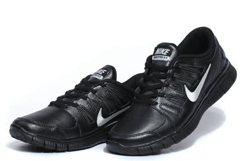 nike free 5 0 leather black silver womens running shoes
