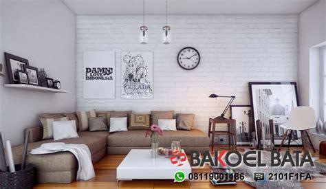 wallpaper dinding bata putih hunian semakin unik dengan dinding batu bata putih