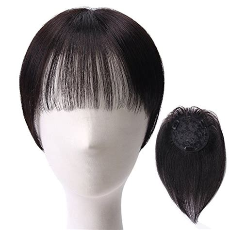 Clip On Human Hair Bangs For Thinning Hair | 21 best and coolest human hair toppers