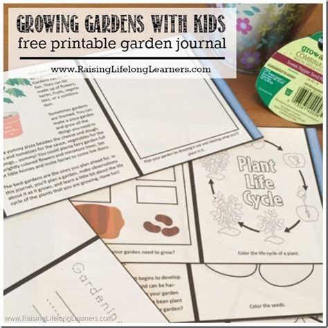 printable grow journal growing gardens with kids raising lifelong learners