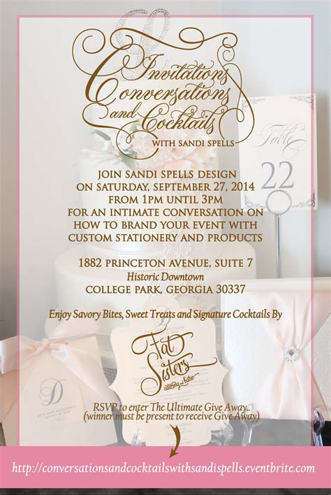 cocktail conversation invitations conversations and cocktails with sandi spells