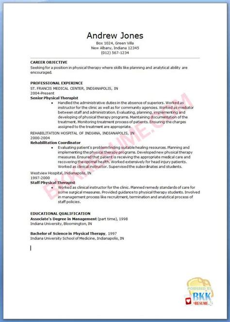 template printable sample massage therapist resume objective for