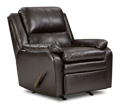 sears recliners furniture simmons upholstery baron leather rocker recliner shop
