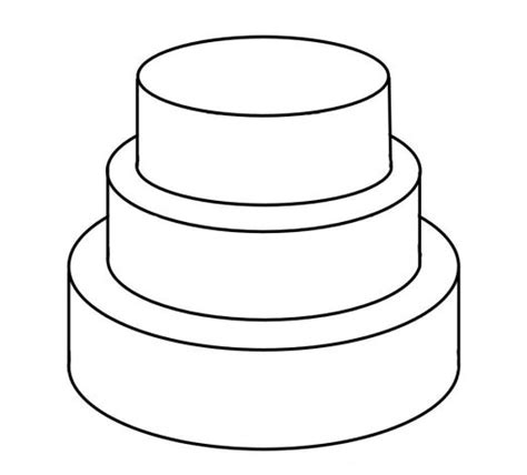 Wedding Cake Template by Cake Templates Wedding Plans