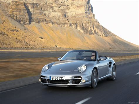silver porsche convertible 2008 silver porsche 911 turbo cabriolet wallpapers