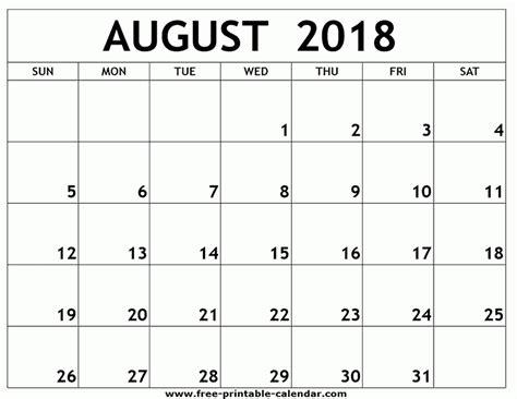 printable calendar august 2018 printable monthly calendar august 2018 happyeasterfrom com