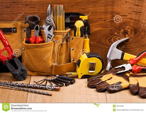 set of working tools royalty free stock photos image