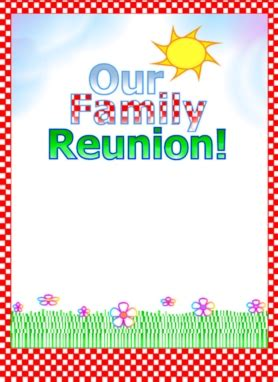 Family Reunion Flyer Templates Free free printable flyer sles printable flyrs