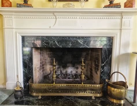 Fenders Fireplace by Ash Tree Cottage Antique Andirons And Fender For The