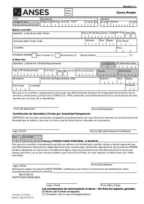 turno anses para presentar form ps 1 47 formulario 1 47 de anses formulario anses scribdcom anses
