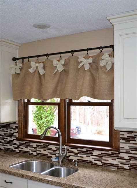 easy affordable diy kitchen window valances kitchen