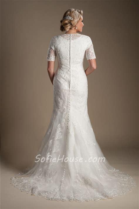 modest mermaid wedding dresses modest mermaid high back sleeve lace wedding dress