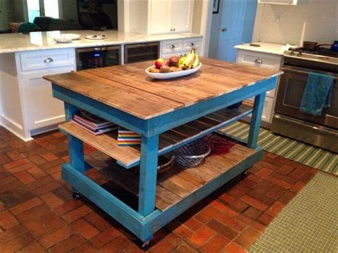 Build Kitchen Island Table by Diy Pallet Kitchen Island Buffet Table 101 Pallets