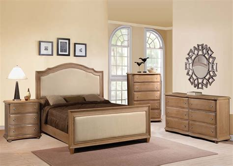 Acme Furniture Aria 4 Piece Upholstered Panel Bedroom Set Organic Bedroom Furniture