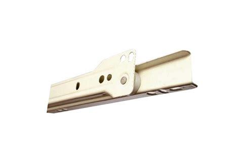 jual rel laci roda biasa putih beige panjang 25 cm drawer runner bintang hardware
