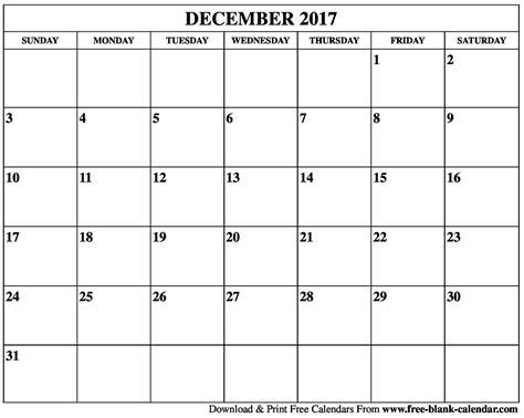 printable calendar page december 2017 blank december 2017 calendar printable