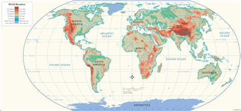 elevation map of the world random walks