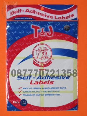 Tom Jerry Label No 113 jual aneka stiker kertas label tom jerry komunitas