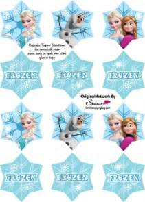 frozen cupcake toppers frozen party decorations free