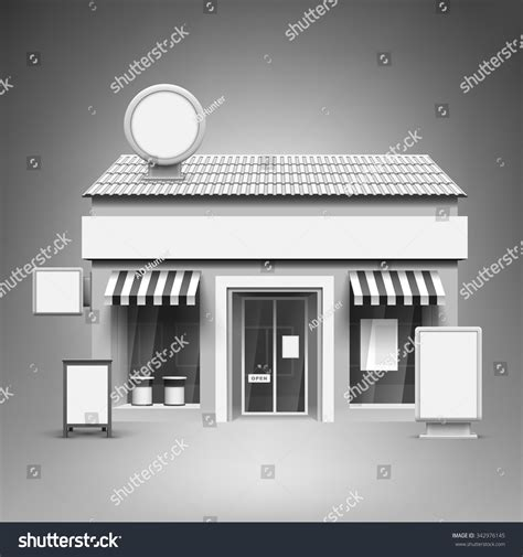 template advertising corporate identity store blank stock