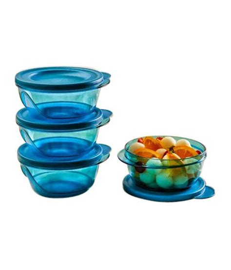 Tupperware Clear Bowl Set Gold 5pcs tupperware blue others 450 each style bowls set of 3 buy at best price in india