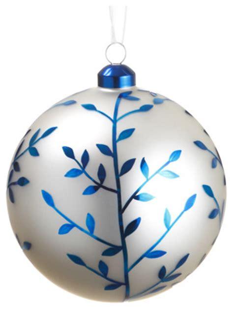 Landscape Lighting Set - silk plants direct glass ball ornaments set of 6 blue amp white traditional christmas