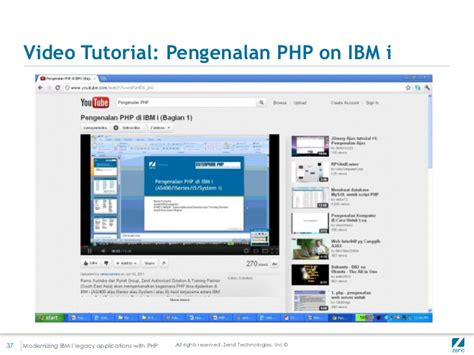 video tutorial zend framework php zend php solutions for ibm i
