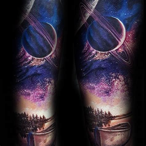 60 saturn tattoo designs for men planet ink ideas