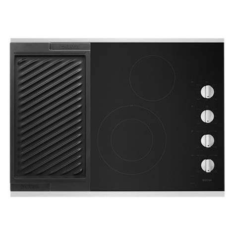 electric cooktop griddle maytag mec8830hs 30 inch electric cooktop with