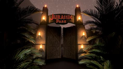artstation jurassic park gate mat jolicoeur