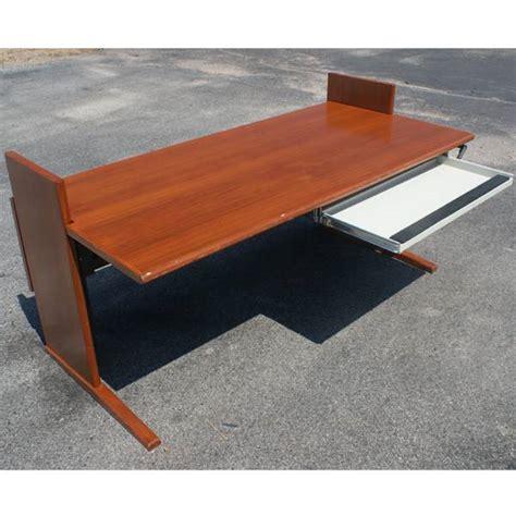 5ft vintage computer drafting table cherry desk ebay